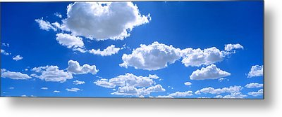 Clouds Abv Navajo Reservation Metal Print by Panoramic Images