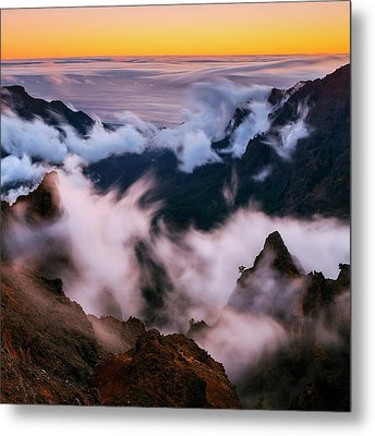 Clouds And Peaks Metal Print