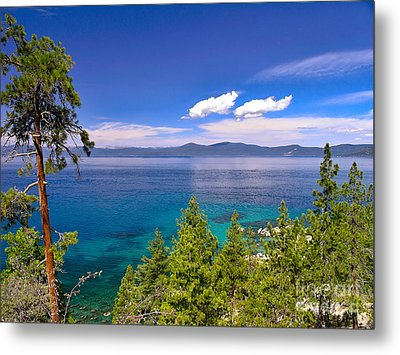 Clouds And Silence - Lake Tahoe Metal Print