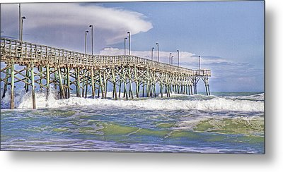 Clouds And Waves Metal Print by Betsy Knapp