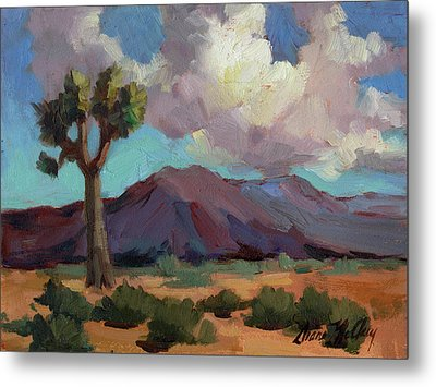 Clouds At Joshua Metal Print by Diane McClary
