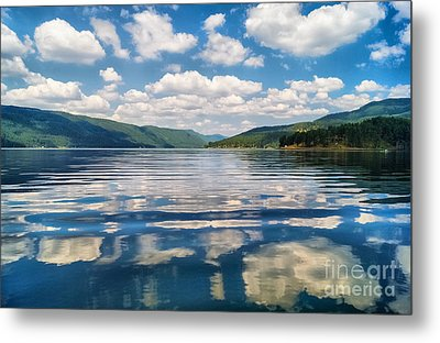 Clouds In The Water Metal Print by Stela Taneva