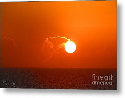 Lassoing The Setting Sun Metal Print