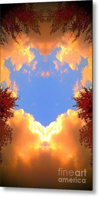 Clouds Of Gold Metal Print