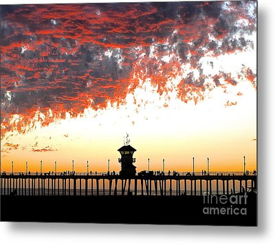 Metal Print featuring the photograph Clouds On Fire by Margie Amberge