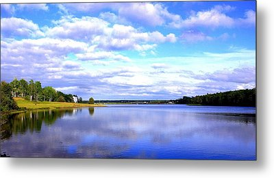 Clouds On Water Metal Print