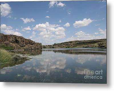 Clouds On Water Metal Print by Rich Collins