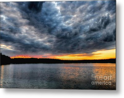 Metal Print featuring the photograph Clouds Over Big Twin Lake by Trey Foerster