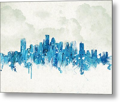 Clouds Over Boston Massachusetts Usa Metal Print by Aged Pixel
