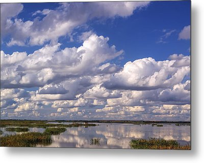 Clouds Over Cheyenne Bottoms Metal Print