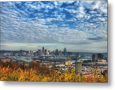 Clouds Over Cincinnati Metal Print