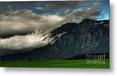 Clouds Over Goat Mountain Metal Print