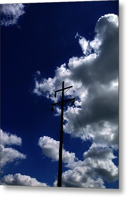 Clouds Over Jacksonville Il Metal Print