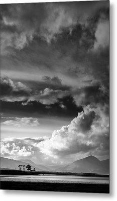 Clouds Over Loch Laich Metal Print