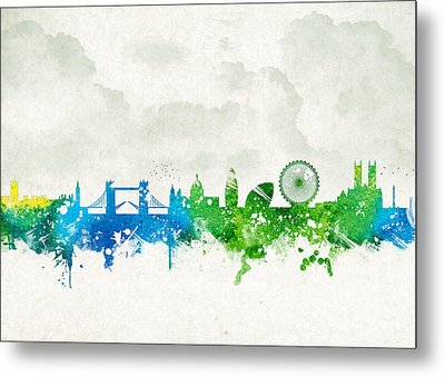 Clouds Over London England Metal Print by Aged Pixel