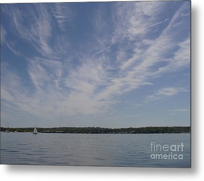 Clouds Over Long Island Sound Metal Print by John Telfer