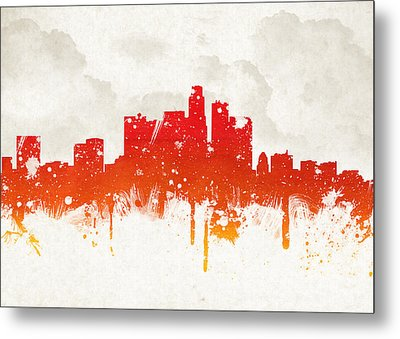 Clouds Over Los Angeles California Metal Print