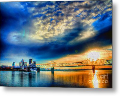 Clouds Over Louisville Metal Print by Darren Fisher