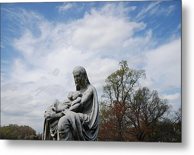 Clouds Over Mother And Twins Metal Print