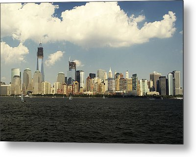 Clouds Over New York Skyline Metal Print