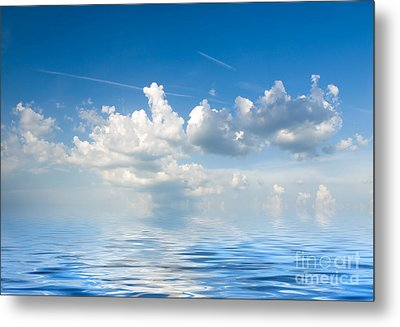 Clouds Over Sea Metal Print by Boon Mee
