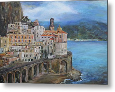 Clouds Over The Amalfi Coast Metal Print