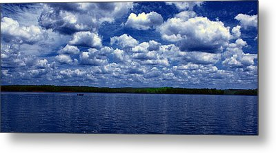 Clouds Over The Catawba River Metal Print