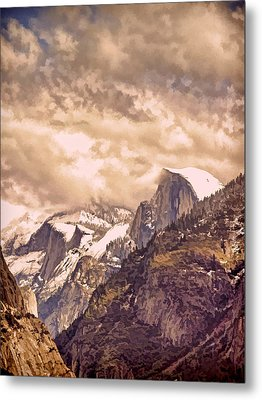 Clouds Over The Valley Metal Print