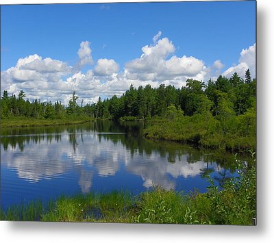 Clouds Reflections Metal Print