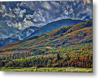 Clouds Sweating On Autumn Metal Print by Brenton Cooper