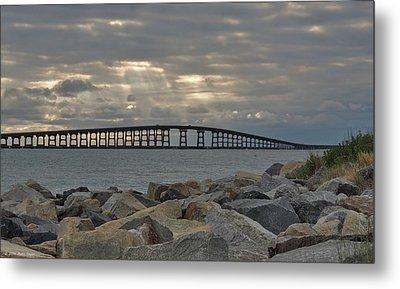 Cloudy Afternoon Bonner Bridge Metal Print by Matt Taylor