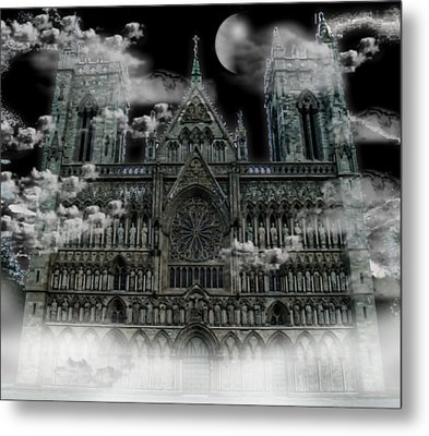 Metal Print featuring the photograph Cloudy Cathedral by Digital Art Cafe
