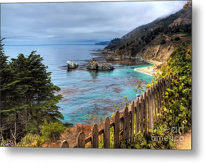 Cloudy Day In Big Sur Metal Print