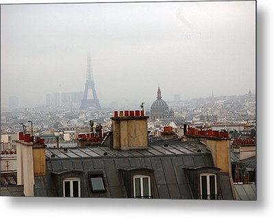 Cloudy Day In Paris Metal Print by Peter Cassidy