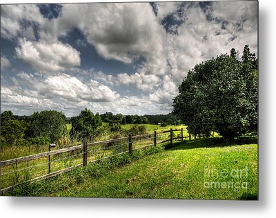 Cloudy Day In The Country Metal Print