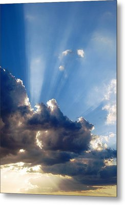 Cloudy Day Rays Metal Print by Dorothy Berry-Lound