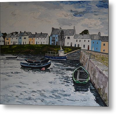 Cloudy Day Roundstone Connemara Metal Print