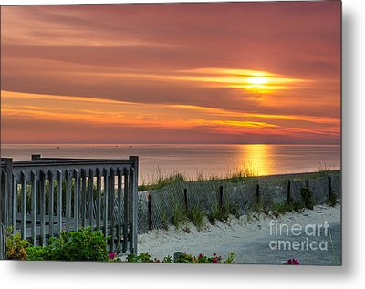 Metal Print featuring the photograph Sandy Neck Beach Sunrise by Mike Ste Marie