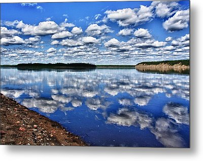 Cloudy Reflection Metal Print by Scott Holmes