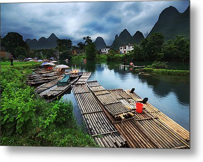 Metal Print featuring the photograph Cloudy Village by Afrison Ma