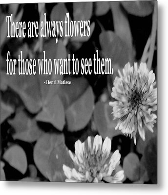 Clover Flowers Metal Print by Josephine Ring