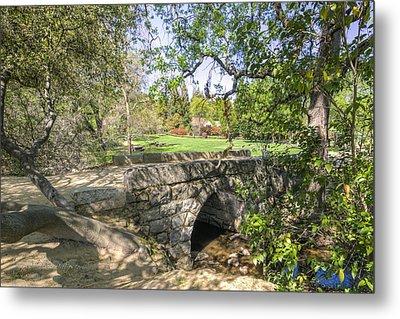Clover Valley Park Bridge Metal Print