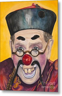 Watercolor Clown #15  Bill Gillespie Metal Print by Patty Vicknair