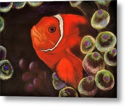 Clown Fish In Hiding  Pastel Metal Print
