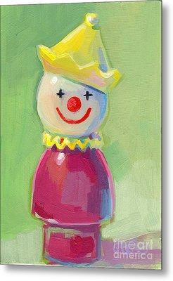 Clown Metal Print by Kimberly Santini