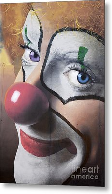 Clown Mural Metal Print by Bob Christopher