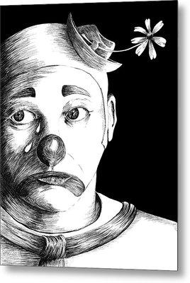 Clown Of Tears Metal Print by Carl Genovese