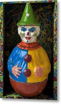 Clown Toy In Box Metal Print by Garry Gay