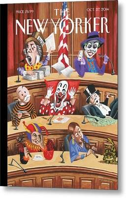 Clowns, Fools And Jokers Preside Over Congress Metal Print by Mark Ulriksen