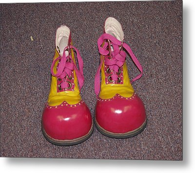 Clowns Red Shoes Metal Print by Dick Willis